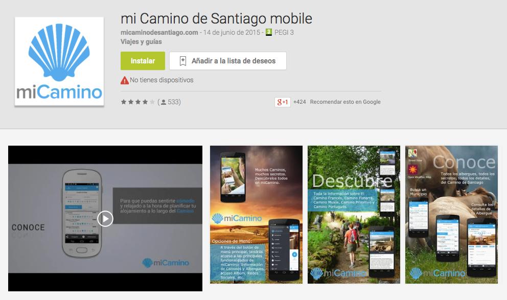 ¿Utilizáis alguna aplicación para peregrinar a Santiago?