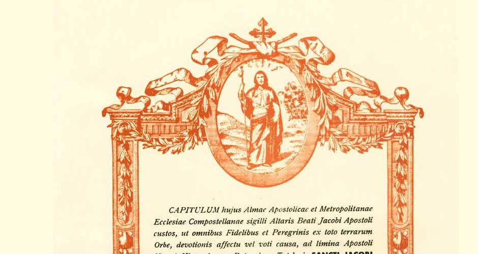 La Compostela del Camino de Santiago