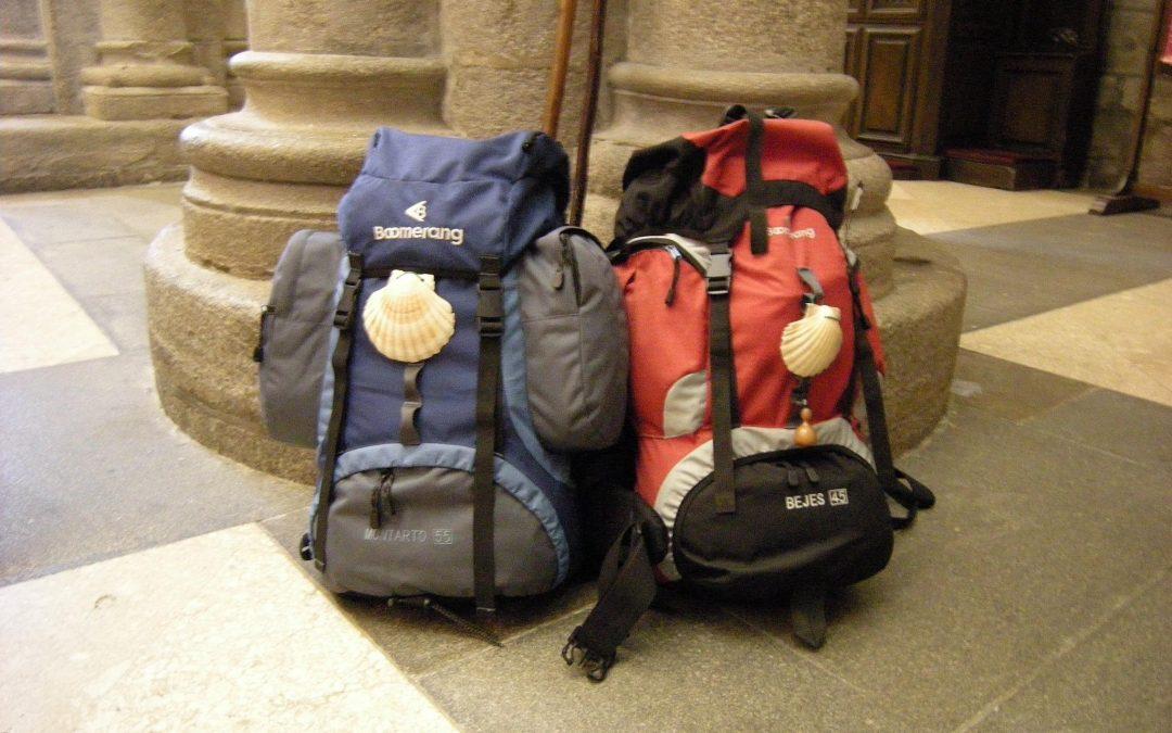 La mochila es muy importante en el Camino de Santiago