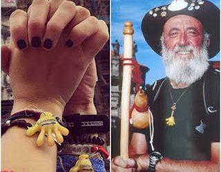La mano de Mocho, la mano de la amistad del Camino de Santiago