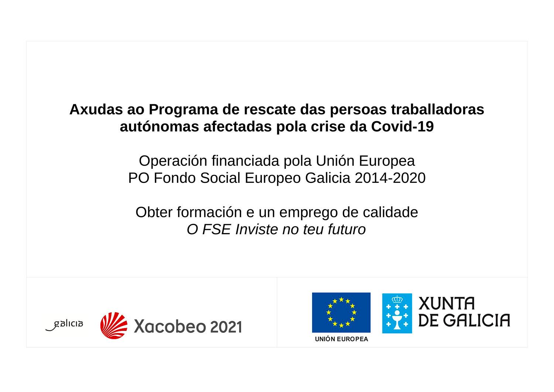 Axudas covid Xunta de Galicia